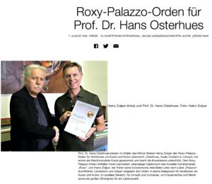 Zolper - Kaine Kunst - Kain Stil, Verleihung Roxy-Palazzo-Orden