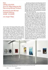 Kunstforum International, vol 270, Heinz Zolper 2
